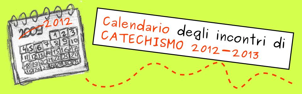Calendario Catechismo_2012-2013