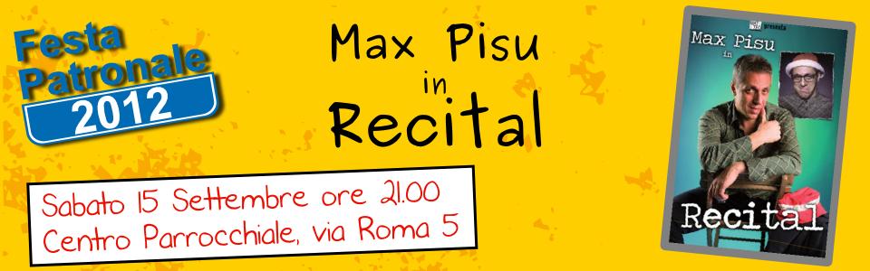 Max Pisu Recital 15 settembre 2012