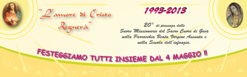 20 anniversario Suore Missionarie del Sacro Suore di Gesù