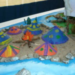 Il plastico dell'Isolachenoncè - Il villaggio degli indiani Piccaninny