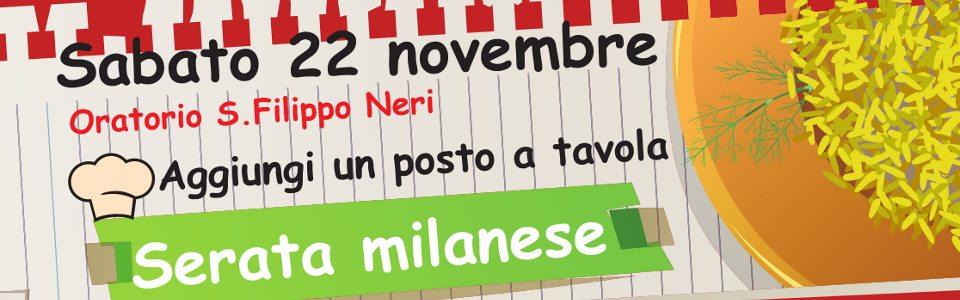 Sabato 22 Novembre… cena e serata Milanese!