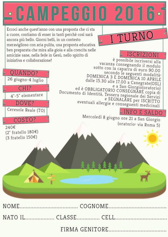 Campeggio 2016 1° turno