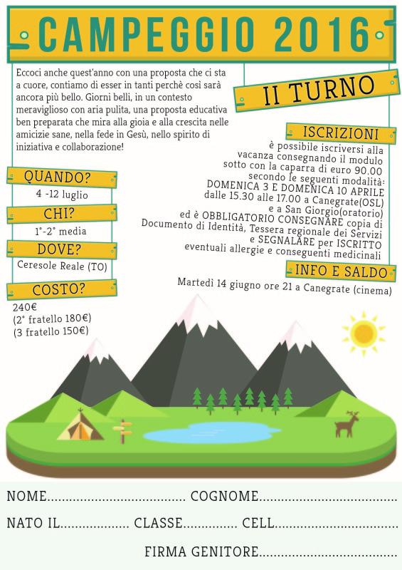 Campeggio 2016 2° turno